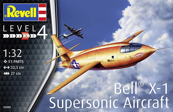 ベル X-1プラモデル(レベル1/32 AircraftNo.03888)商品画像
