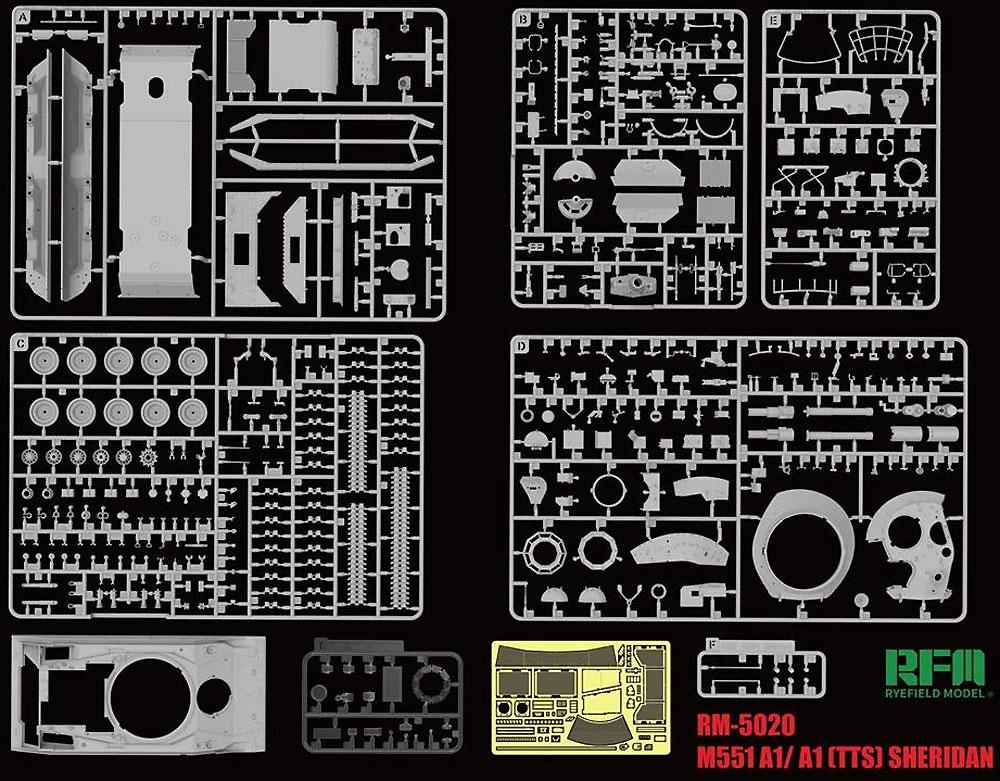 M551A1/TTS シェリダンプラモデル(ライ フィールド モデル1/35 AFVNo.5020)商品画像_1