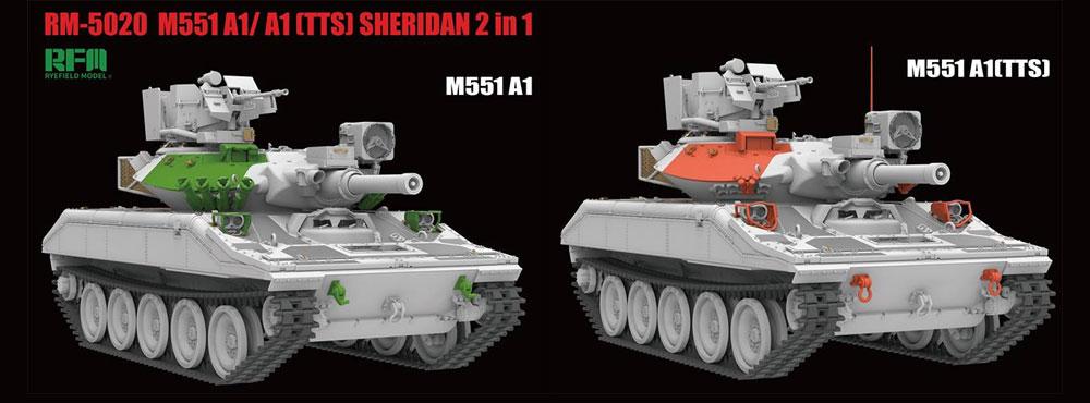 M551A1/TTS シェリダンプラモデル(ライ フィールド モデル1/35 AFVNo.5020)商品画像_2