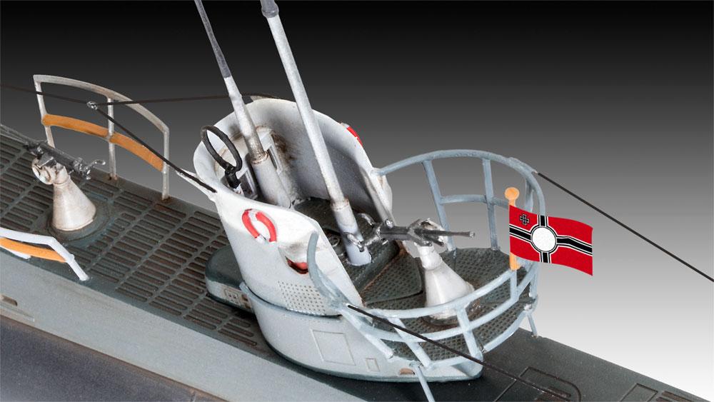 ドイツ 潜水艦 Type2B 1943プラモデル(レベル1/144 艦船モデルNo.05155)商品画像_3
