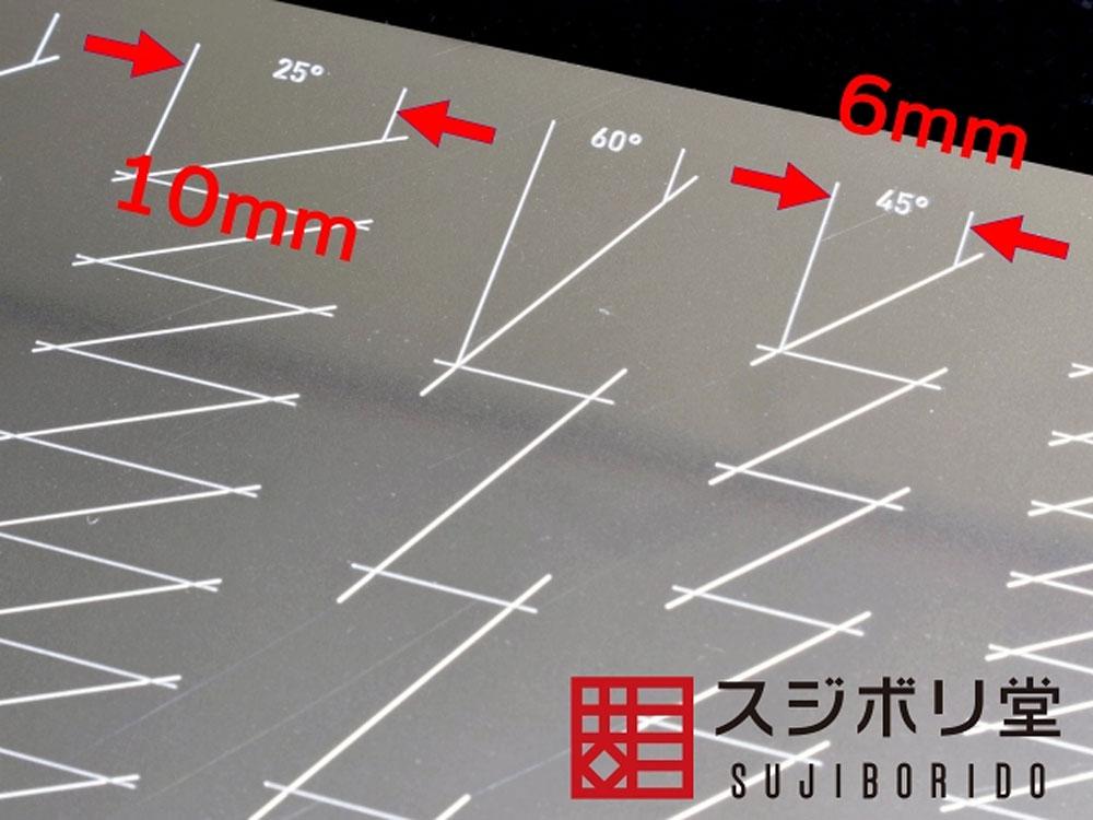 マスキングテープカットガイド 2 プレート型 三角テンプレート(idolaエッチングガイドNo.025)商品画像_2