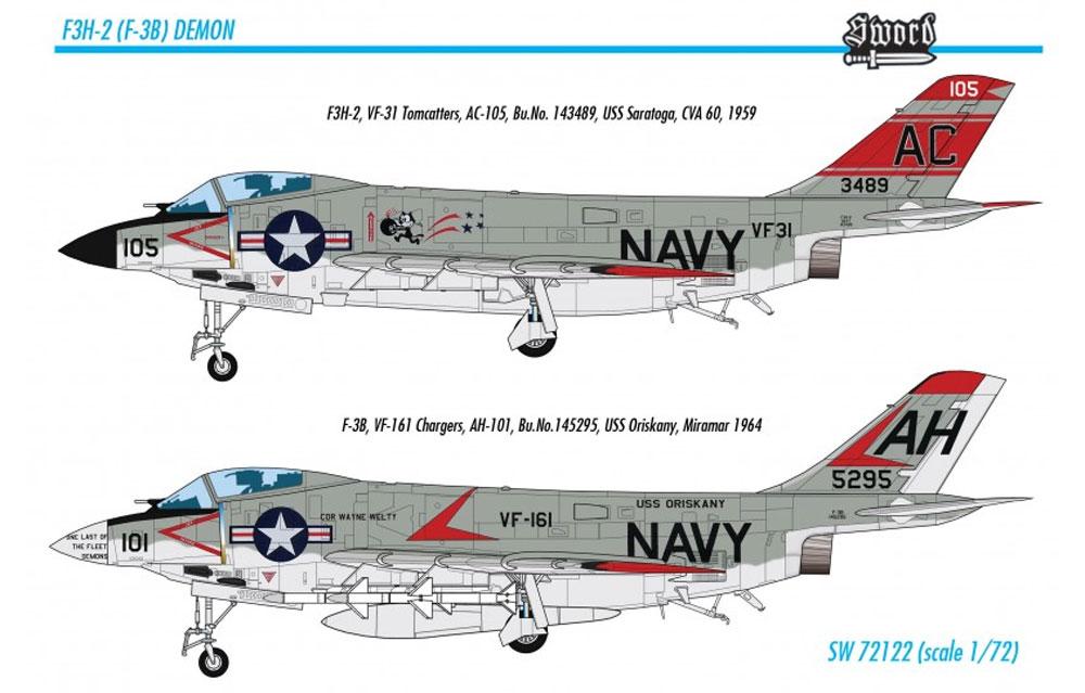 F3H-2 デーモンプラモデル(ソード1/72 エアクラフト プラモデルNo.72122)商品画像_4