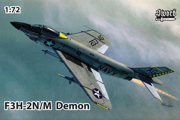 F3H-2N/M デーモンプラモデル(ソード1/72 エアクラフト プラモデルNo.72123)商品画像