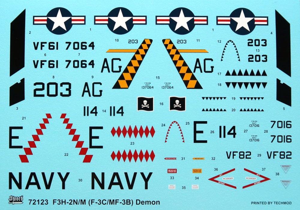 F3H-2N/M デーモンプラモデル(ソード1/72 エアクラフト プラモデルNo.72123)商品画像_3