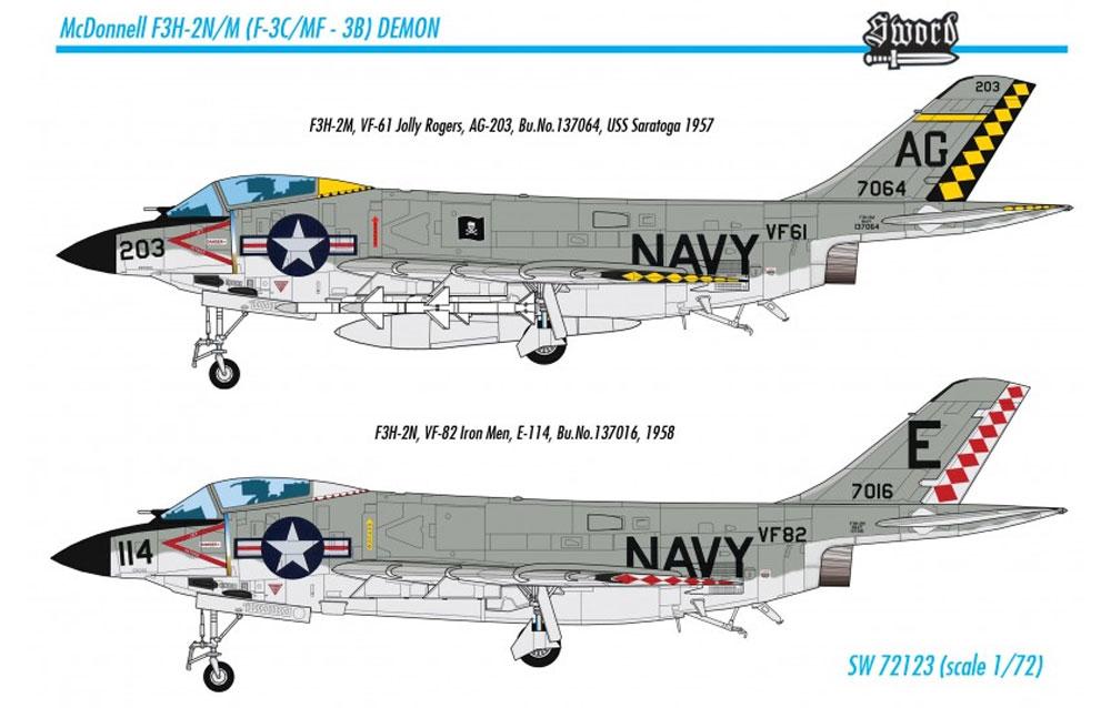 F3H-2N/M デーモンプラモデル(ソード1/72 エアクラフト プラモデルNo.72123)商品画像_4
