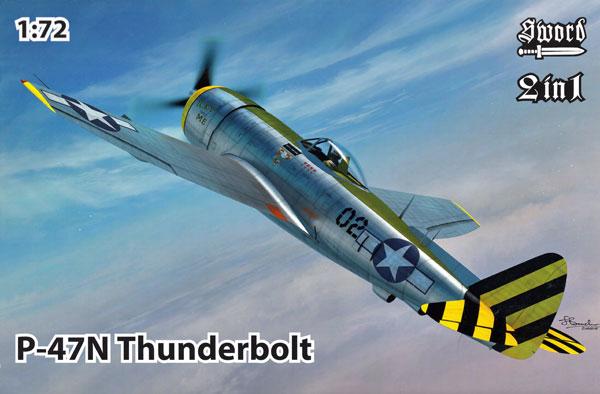 P-47N サンダーボルト 2in1プラモデル(ソード1/72 エアクラフト プラモデルNo.72121)商品画像