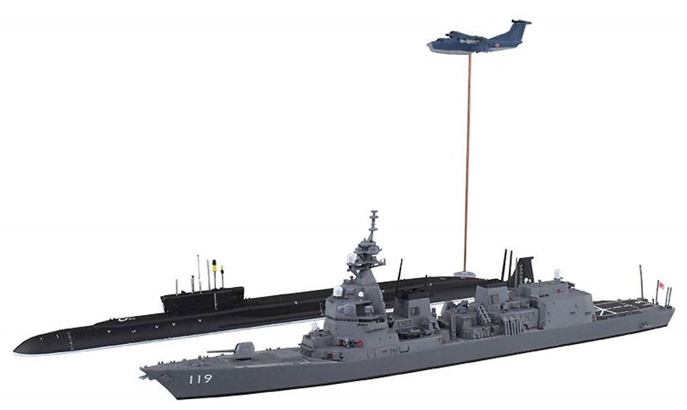 海上自衛隊 護衛艦 あさひ SP シーレーン防衛作戦プラモデル(アオシマ1/700 ウォーターラインシリーズNo.055656)商品画像_1