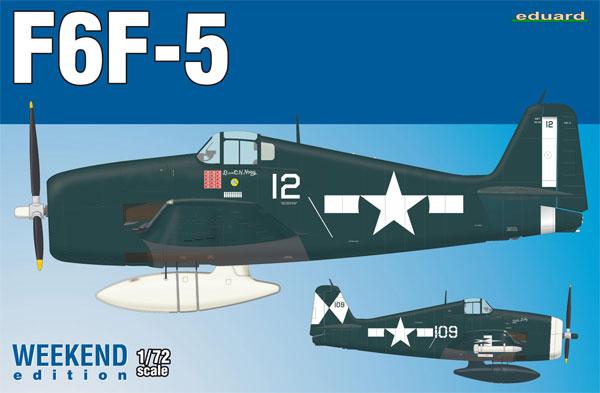 F6F-5 ヘルキャットプラモデル(エデュアルド1/72 ウィークエンド エディションNo.7450)商品画像