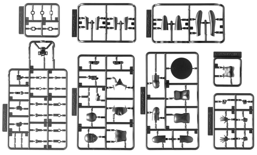 ムーバブルボディ 女性型 スタンダードプラモデル(ウェーブオプションシステム (プラユニット)No.SR-021)商品画像_1