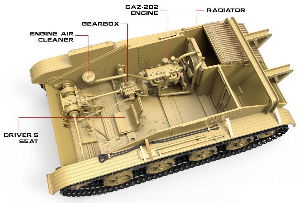 T-60r 戦車回収車 フルインテリアプラモデル(ミニアート1/35 WW2 ミリタリーミニチュアNo.35238)商品画像_3