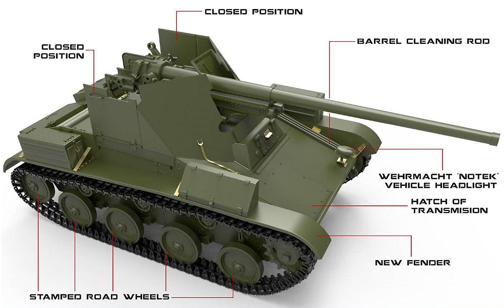 ルーマニア タカム T-60 76mm自走砲 フルインテリアプラモデル(ミニアート1/35 WW2 ミリタリーミニチュアNo.35240)商品画像_1
