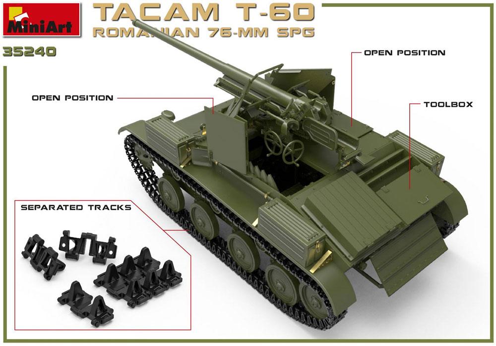 ルーマニア タカム T-60 76mm自走砲 フルインテリアプラモデル(ミニアート1/35 WW2 ミリタリーミニチュアNo.35240)商品画像_2