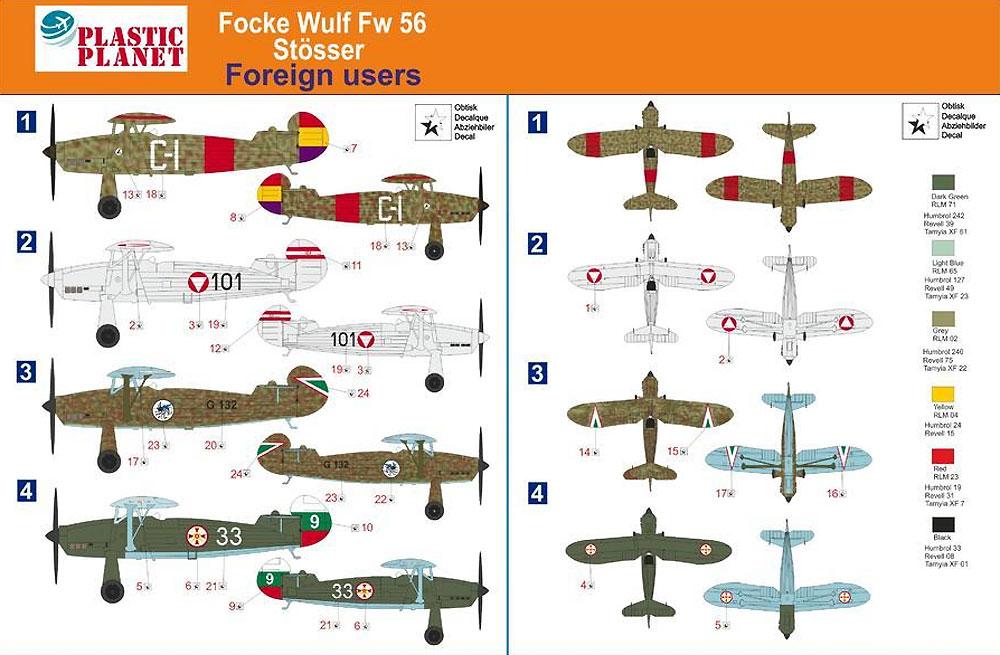 フォッケウルフ Fw56 シュテッサー 海外仕様プラモデル(プラスチック プラネット1/48 プラスチックモデルNo.PPC48004)商品画像_2