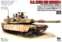 ティーモデル1/72 ミリタリー プラモデルアメリカ M1A2 エイブラムス戦車 SEP TUSK 1 w/M151 CROWS 2