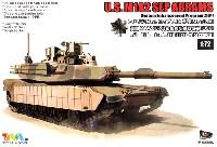 ティーモデル1/72 ミリタリー プラモデルアメリカ M1A2 エイブラムス戦車 SEP TUSK 1 w/M151 CROWS 2 シルバーオークリーフセット