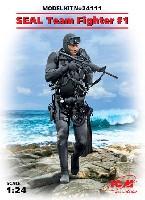 ICM1/24 フィギュアアメリカ海軍 特殊部隊 SEAL隊員 No.1
