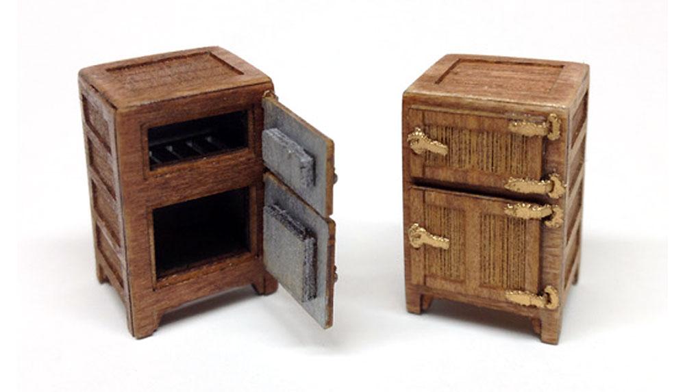 木製冷蔵庫木製模型(トワイライトモデルたそがれの昭和 トワイライト シリーズNo.TAS-002)商品画像_1