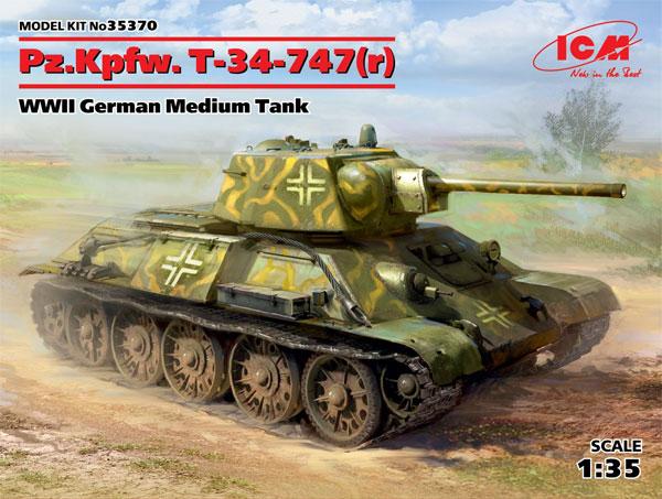ドイツ Pz.Kpfw. T-34-747rプラモデル(ICM1/35 ミリタリービークル・フィギュアNo.35370)商品画像
