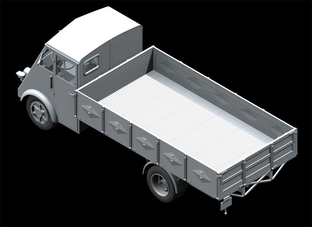 ルノー AHN 3.5t ドイツ アーミートラック w/ドライバープラモデル(ICM1/35 ミリタリービークル・フィギュアNo.35418)商品画像_3