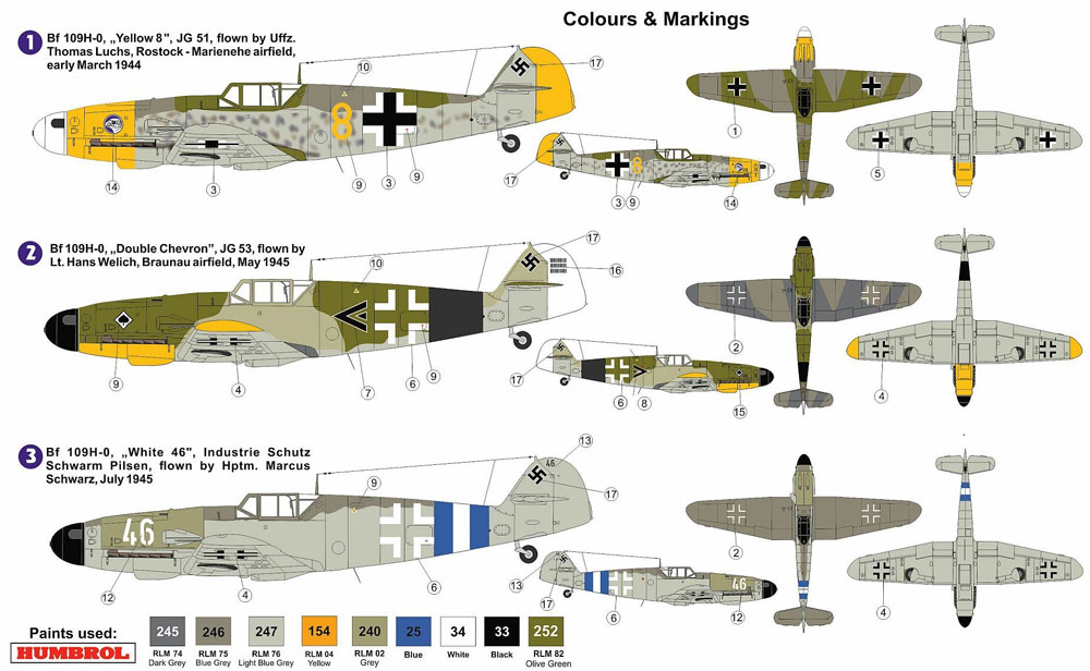 メッサーシュミット Me109H-0 高々度戦闘機プラモデル(AZ model1/72 エアクラフト プラモデルNo.AZ7540)商品画像_1