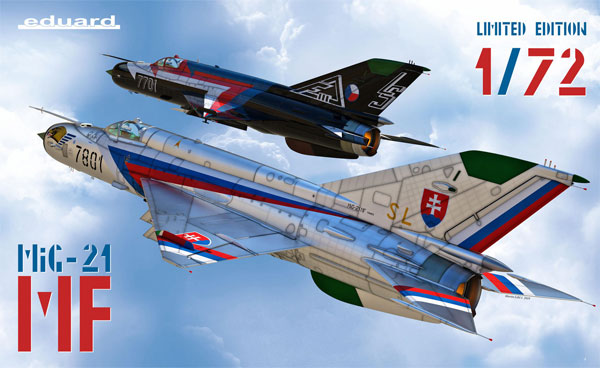 MiG-21MF デュアルコンボプラモデル(エデュアルド1/72 リミテッド エディションNo.2127)商品画像