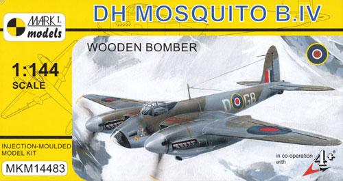デ ハビランド モスキート B Mk.4 木製爆撃機プラモデル(MARK 1MARK 1 modelsNo.MKM14483)商品画像