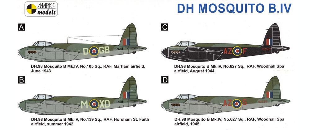 デ ハビランド モスキート B Mk.4 木製爆撃機プラモデル(MARK 1MARK 1 modelsNo.MKM14483)商品画像_1