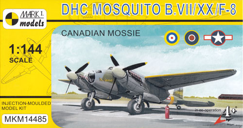 デ ハビランド カナダ モスキート B Mk.7/20/F-8 カナダ製 モズィープラモデル(MARK 1MARK 1 modelsNo.MKM14485)商品画像