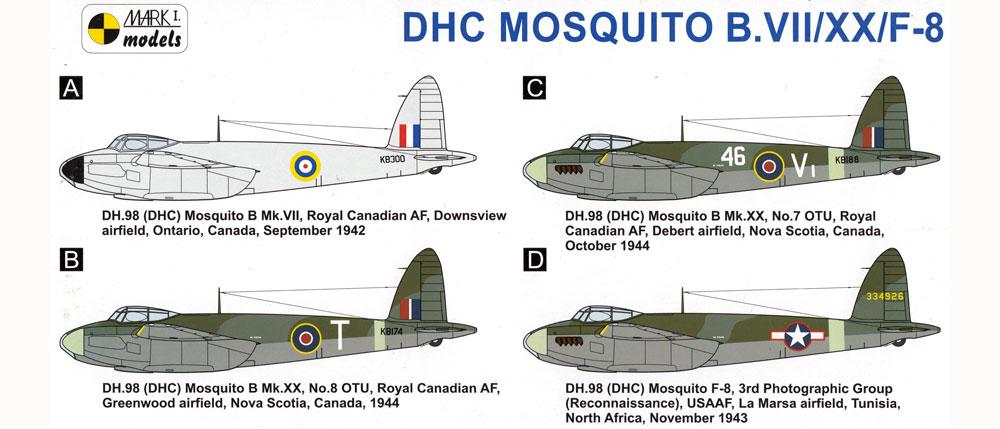 デ ハビランド カナダ モスキート B Mk.7/20/F-8 カナダ製 モズィープラモデル(MARK 1MARK 1 modelsNo.MKM14485)商品画像_1