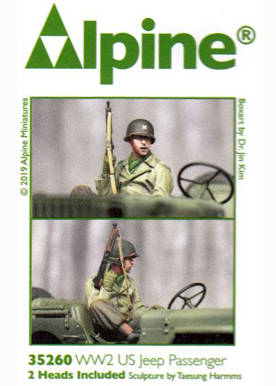 WW2 アメリカ陸軍 斥候へ向かう搭乗兵レジン(アルパイン1/35 フィギュアNo.AM35260)商品画像