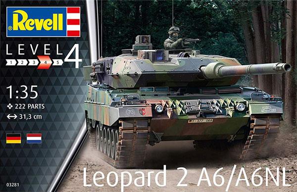 レオパルト 2A6/A6NLプラモデル(レベル1/35 ミリタリーNo.03281)商品画像