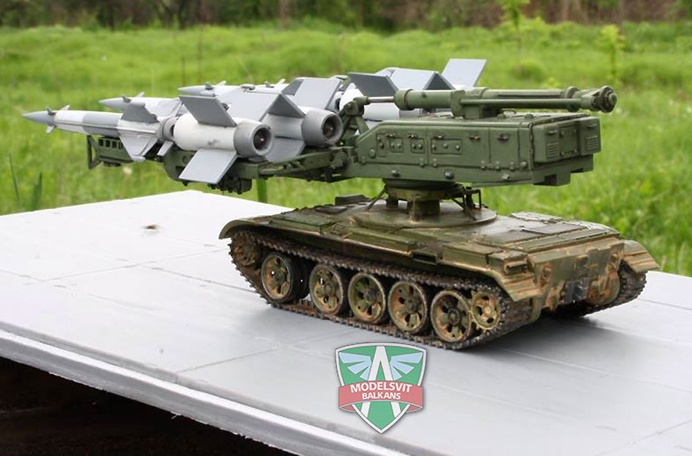 S-125M ネヴァー SC /T-55 自走地対空ミサイルプラモデル(A&A MODELS1/72 プラスチックモデルNo.7217)商品画像_4