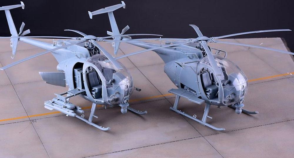 AH-6M/MH-6M リトルバード ナイトストーカーズプラモデル(キティホーク1/35 エアモデルNo.KH50002)商品画像_2