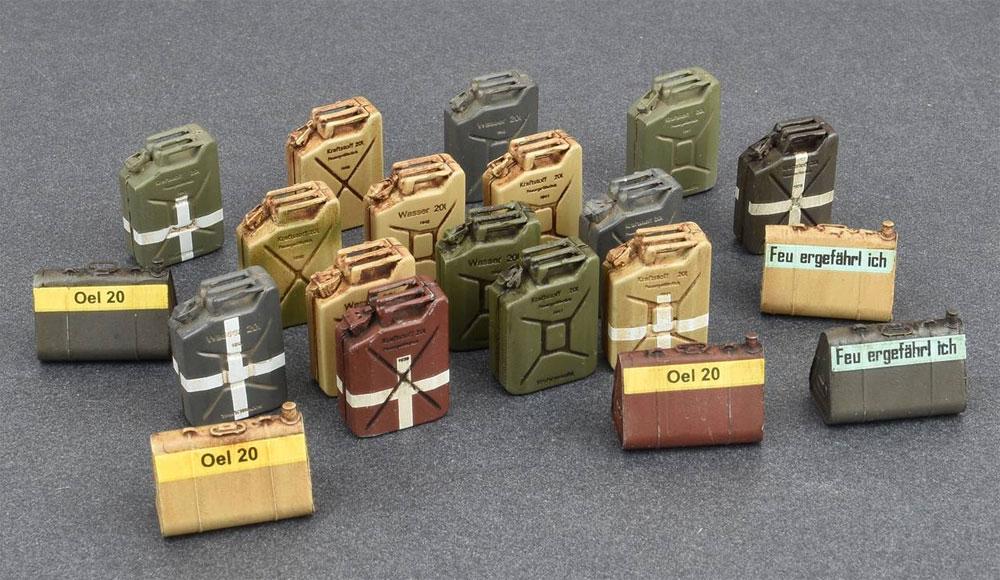 ドイツ ジェリカンセット WW2プラモデル(ミニアート1/35 ビルディング&アクセサリー シリーズNo.35588)商品画像_3