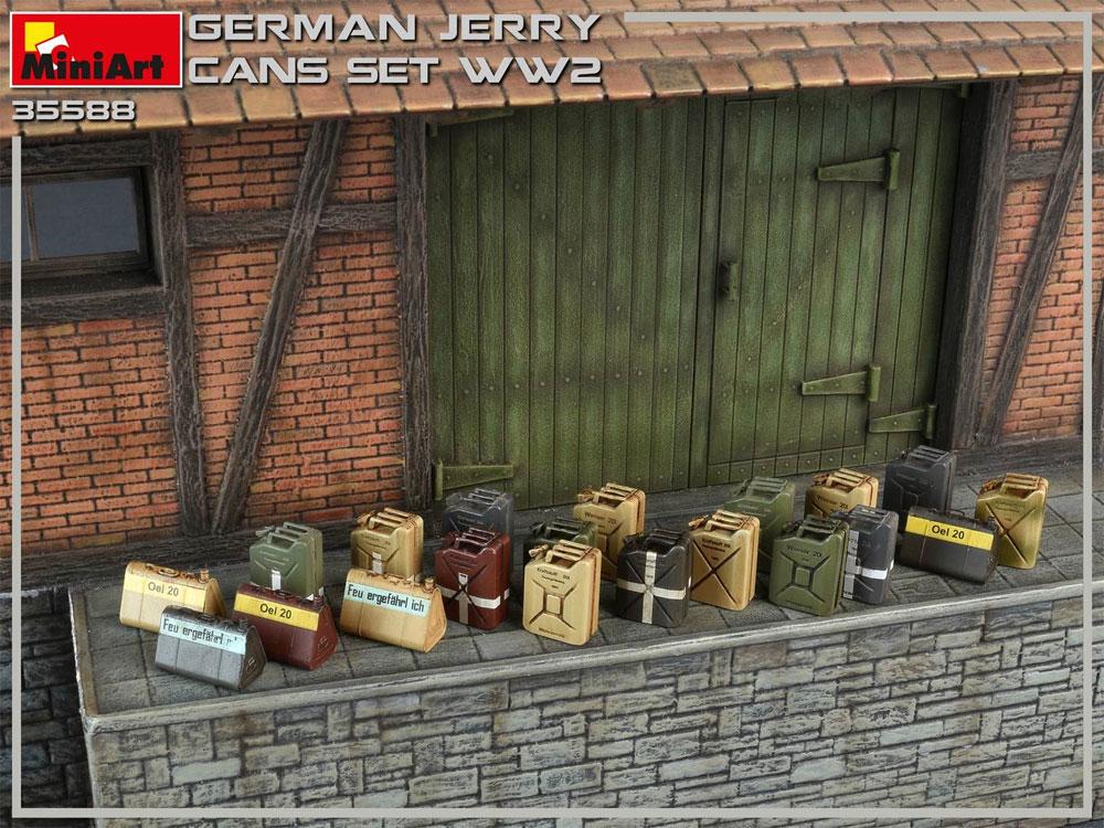 ドイツ ジェリカンセット WW2プラモデル(ミニアート1/35 ビルディング&アクセサリー シリーズNo.35588)商品画像_4