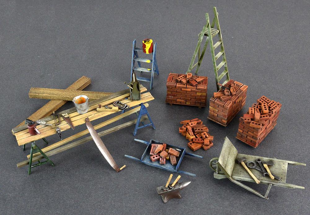 建築用資材セットプラモデル(ミニアート1/35 ビルディング&アクセサリー シリーズNo.35594)商品画像_2
