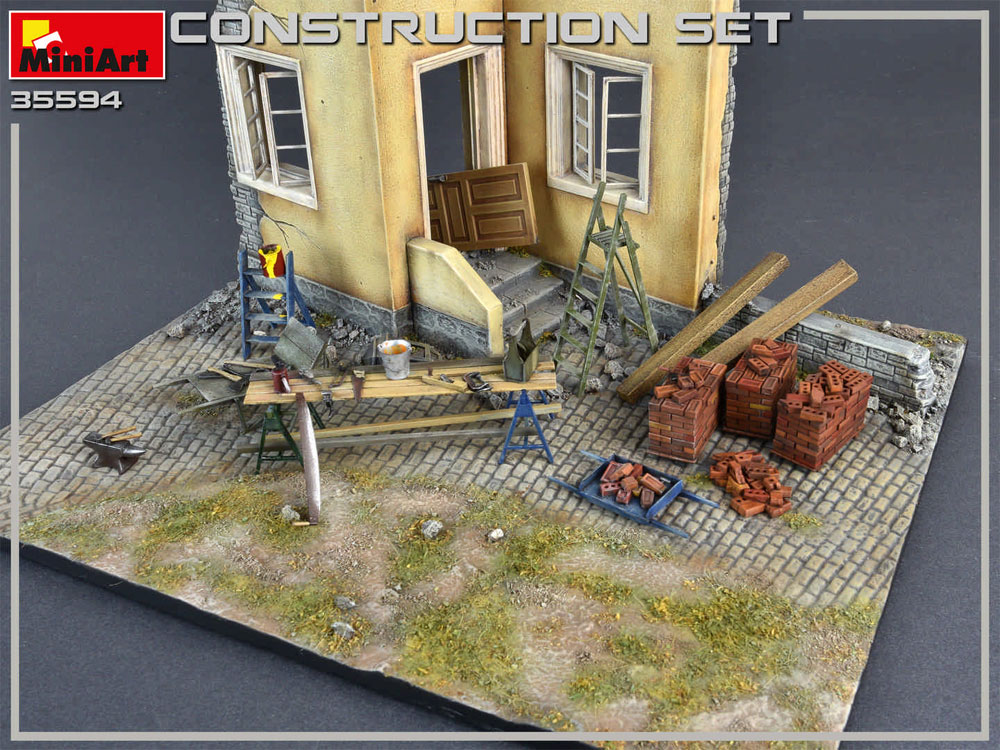 建築用資材セットプラモデル(ミニアート1/35 ビルディング&アクセサリー シリーズNo.35594)商品画像_3