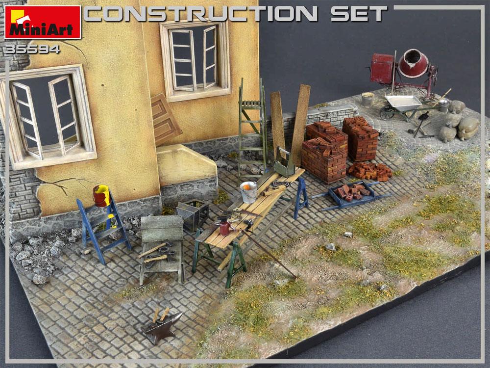 建築用資材セットプラモデル(ミニアート1/35 ビルディング&アクセサリー シリーズNo.35594)商品画像_4