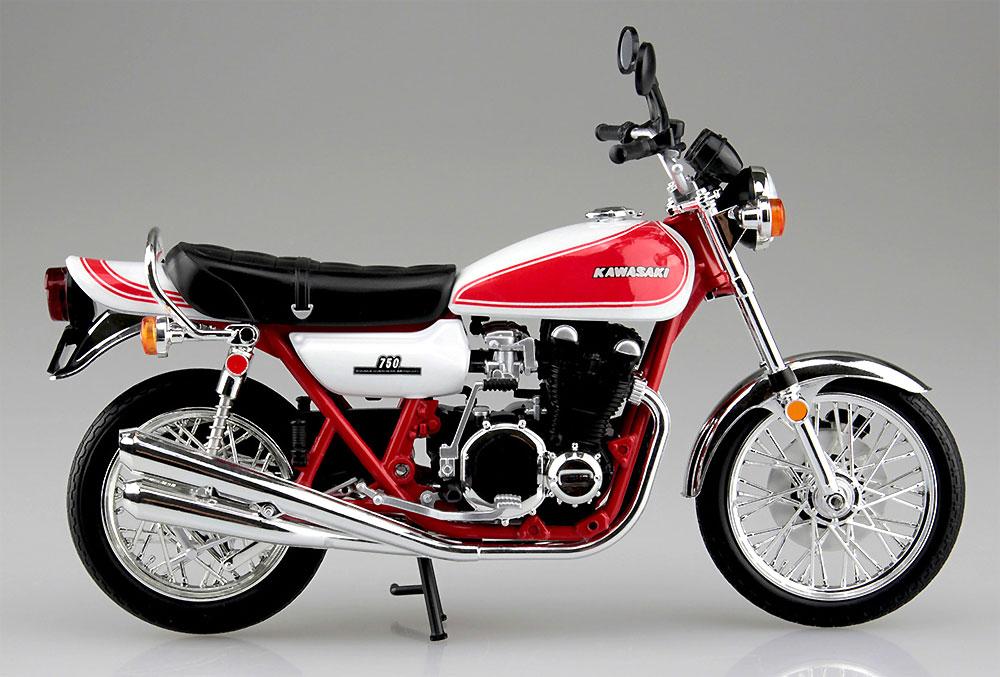 カワサキ 750RS (Z2) 赤白カラー完成品(アオシマ1/12 完成品バイクシリーズNo.105955)商品画像_1