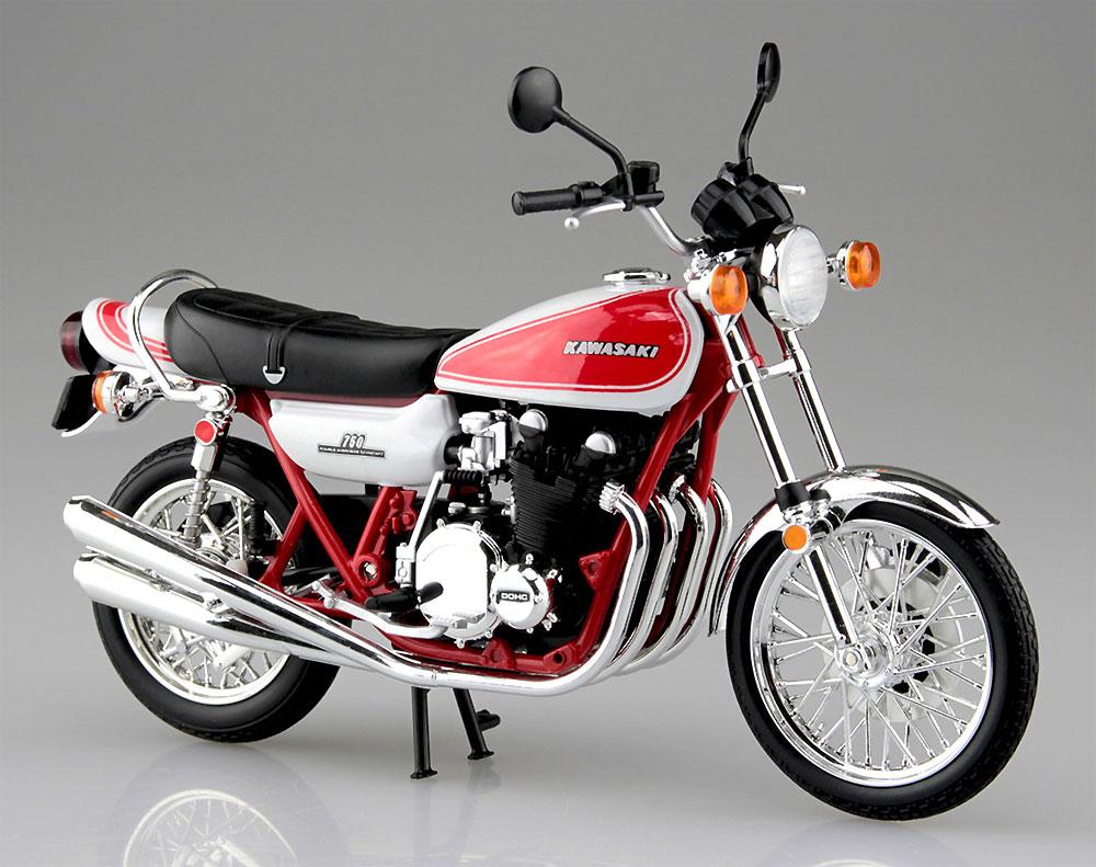 カワサキ 750RS (Z2) 赤白カラー完成品(アオシマ1/12 完成品バイクシリーズNo.105955)商品画像_2