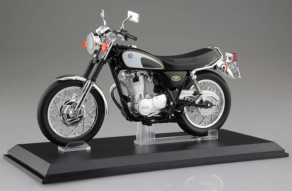 ヤマハ SR400 & 500 グリタリングブラック完成品(アオシマ1/12 完成品バイクシリーズNo.105856)商品画像_1