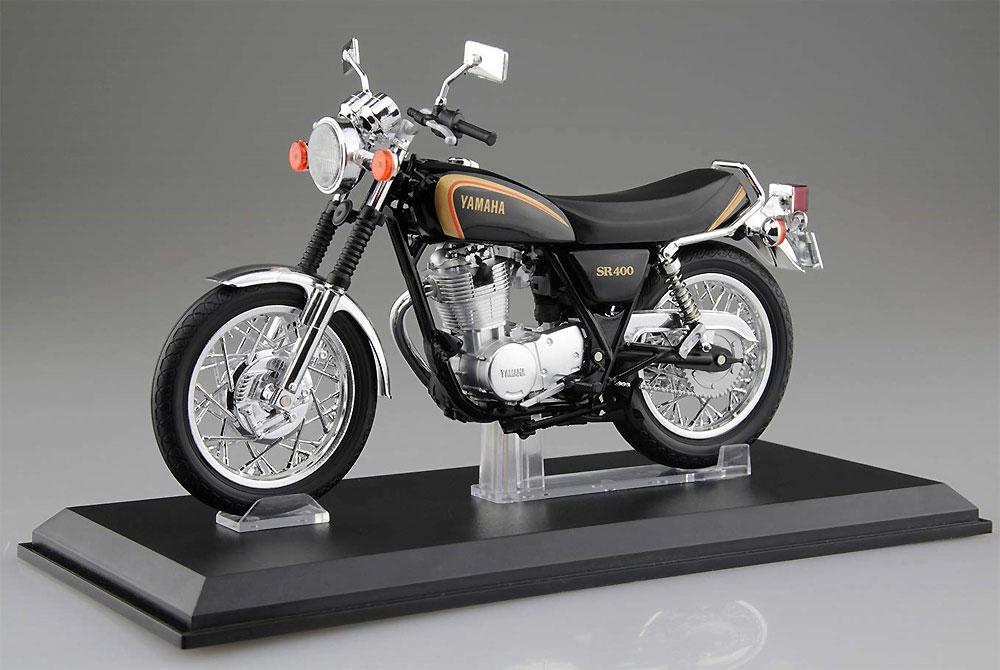 ヤマハ SR400 ブラックゴールド完成品(アオシマ1/12 完成品バイクシリーズNo.105863)商品画像_1