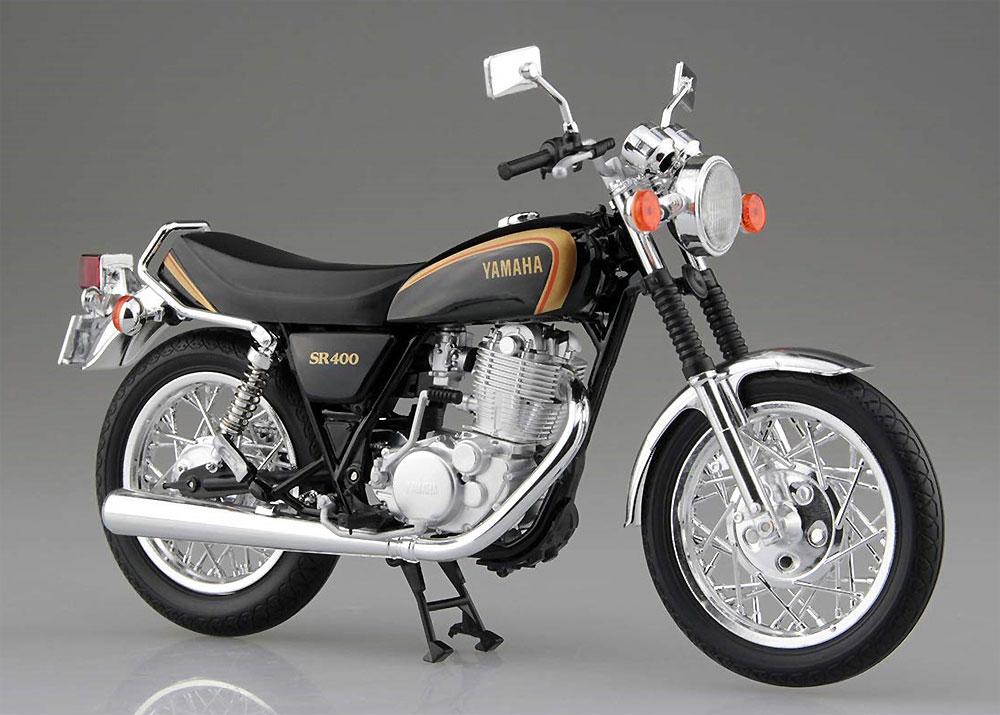 ヤマハ SR400 ブラックゴールド完成品(アオシマ1/12 完成品バイクシリーズNo.105863)商品画像_2