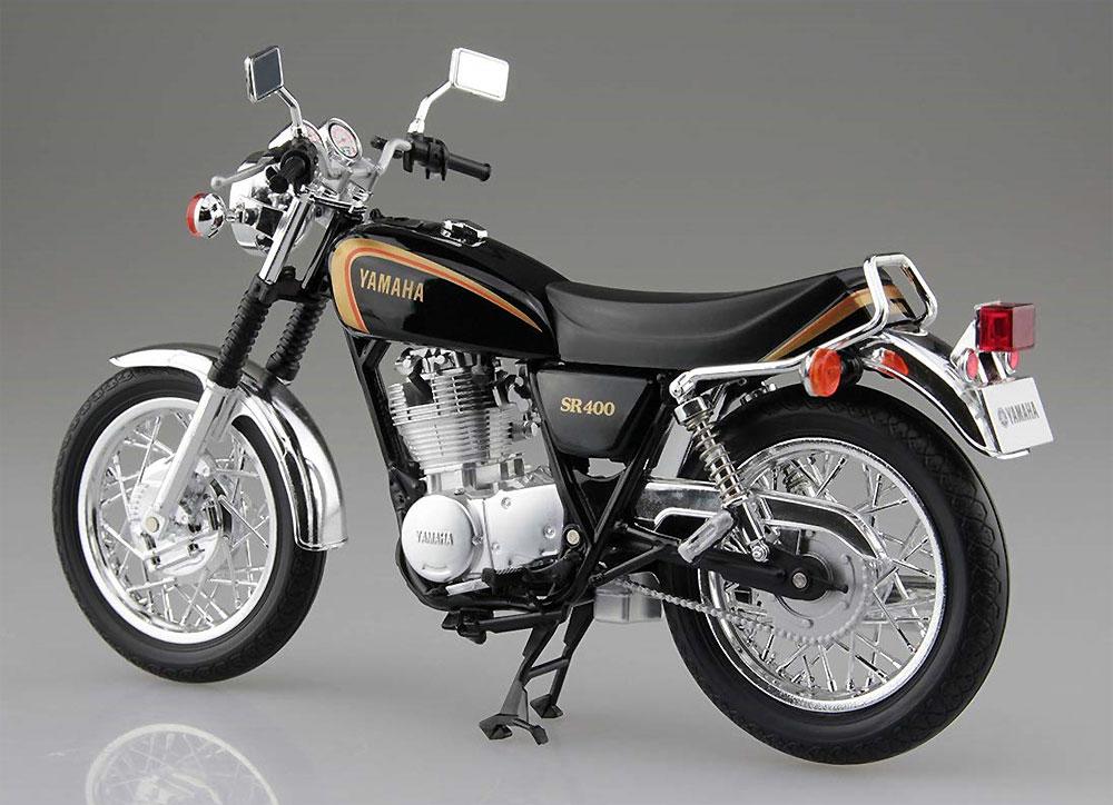 ヤマハ SR400 ブラックゴールド完成品(アオシマ1/12 完成品バイクシリーズNo.105863)商品画像_3