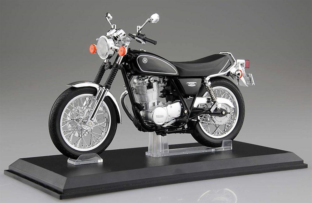 ヤマハ SR400 ヤマハブラック完成品(アオシマ1/12 完成品バイクシリーズNo.105870)商品画像_1