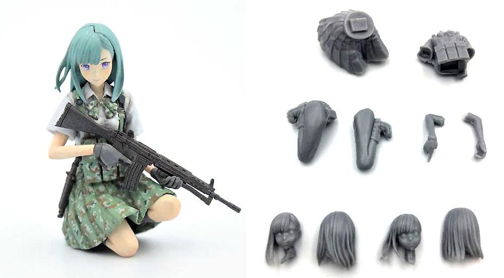 Little Armory 豊崎恵那 キャラクターヘッドバージョンレジン(モデリウム1/35 Little Armory フィギュアシリーズNo.T19LA35-001M)商品画像_1