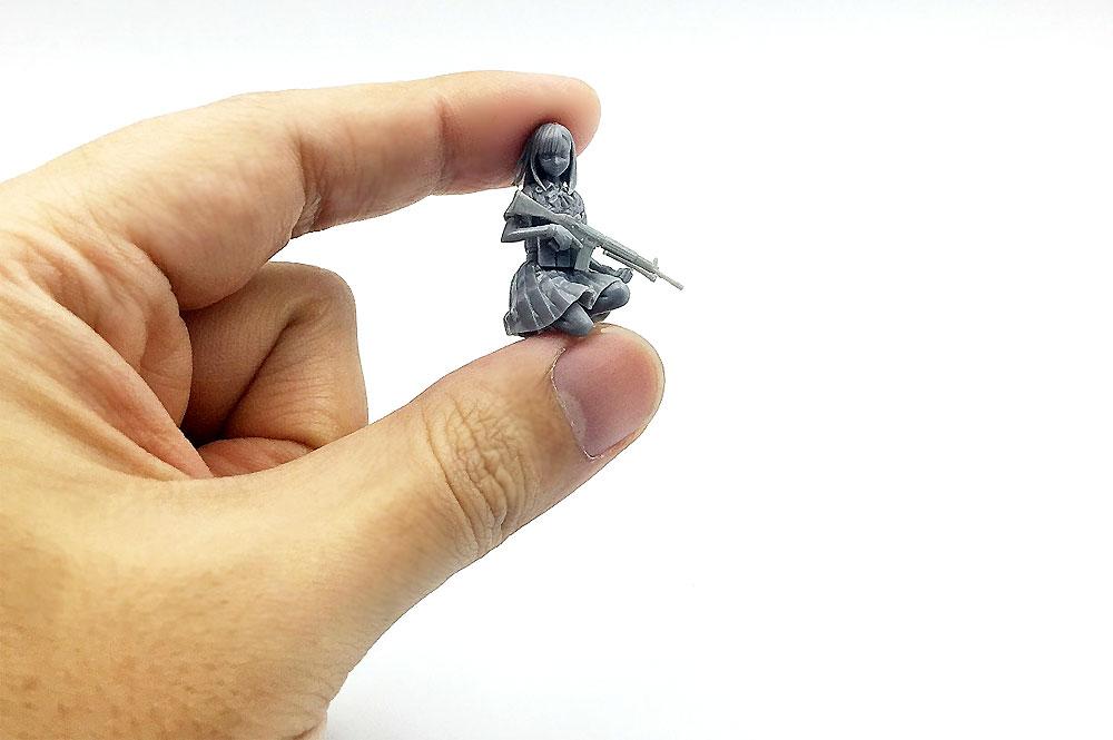 Little Armory 豊崎恵那 キャラクターヘッドバージョンレジン(モデリウム1/35 Little Armory フィギュアシリーズNo.T19LA35-001M)商品画像_2