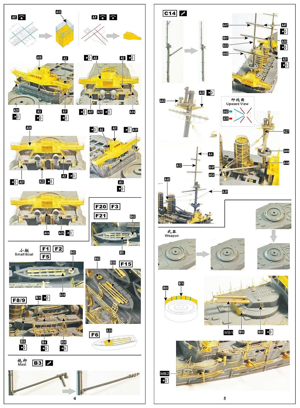 日本海軍 戦艦 三笠 スーパーディテール (ハセガワ用)エッチング(シップ ヤード ワークス1/700 ディテールアップパーツNo.700001)商品画像_3