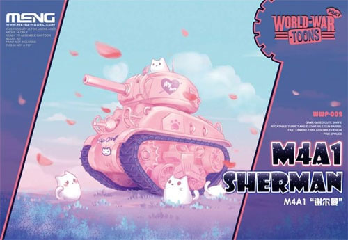 M4A1 シャーマン ピンクバージョン フィギュア付プラモデル(MENG-MODELWORLD WAR TOONSNo.WWP-002S)商品画像