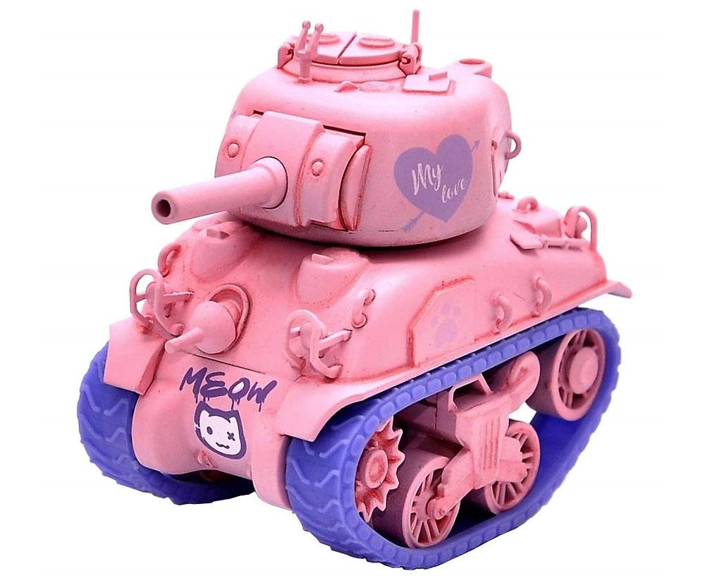 M4A1 シャーマン ピンクバージョン フィギュア付プラモデル(MENG-MODELWORLD WAR TOONSNo.WWP-002S)商品画像_2